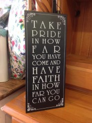 Take Pride Sign