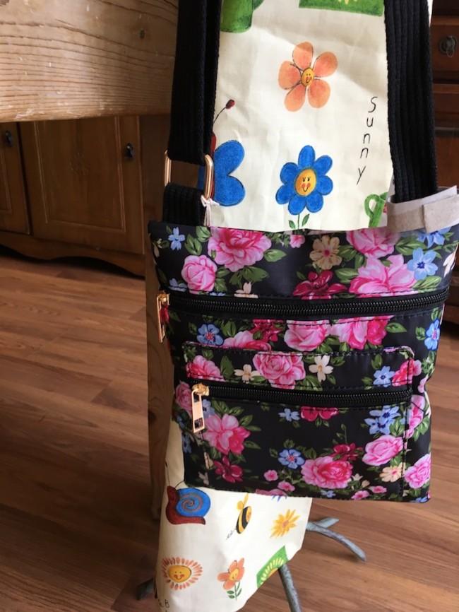 Floral Design Bag (Black)