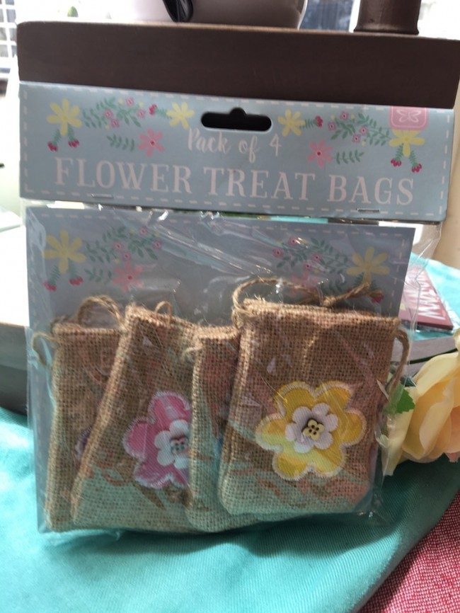 Set Of 4 Flower Treat Bags