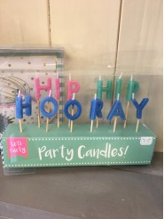 Hip Hip Hooray Party Candles