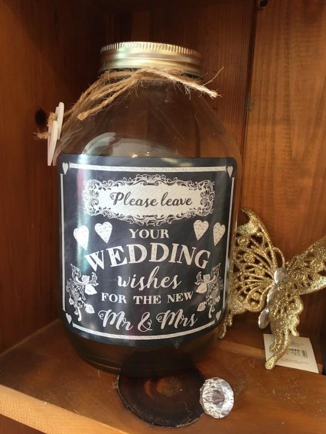 Glass Wedding Wishes Jar
