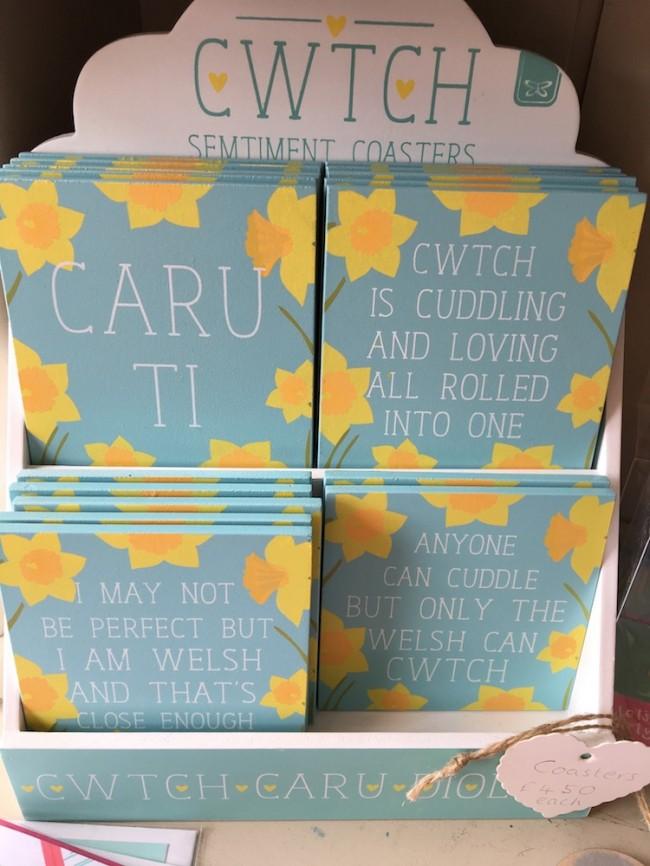 Wooden Welsh Sentiment Coasters